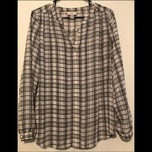 Striped Work Blouse from Loft